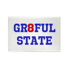 GR8FUL STATE (C) Rectangle Magnet