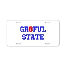 GR8FUL STATE (C) Aluminum License Plate