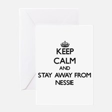 Keep calm and stay away from Nessie Greeting Cards