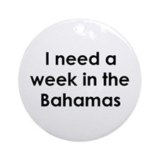 bahamas Ornament (Round)