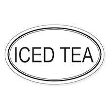 ICED TEA (oval) Oval Decal