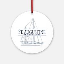 St. Augustine - Ornament (Round)