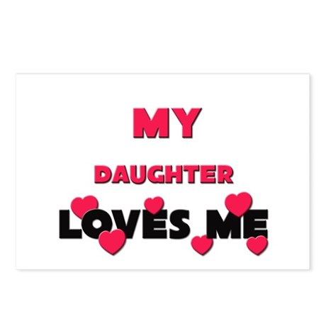 My DAUGHTER Loves Me Postcards (Package of 8)