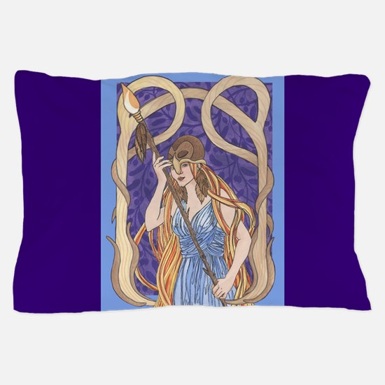 owl eyed athena Pillow Case