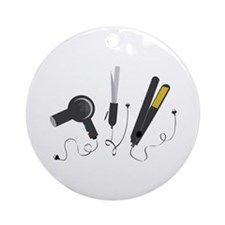 Hair Stylist Tools Ornament (Round)