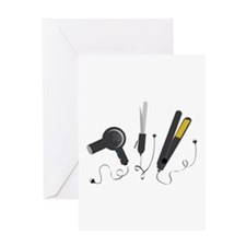 Hair Stylist Tools Greeting Cards