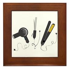 Hair Stylist Tools Framed Tile