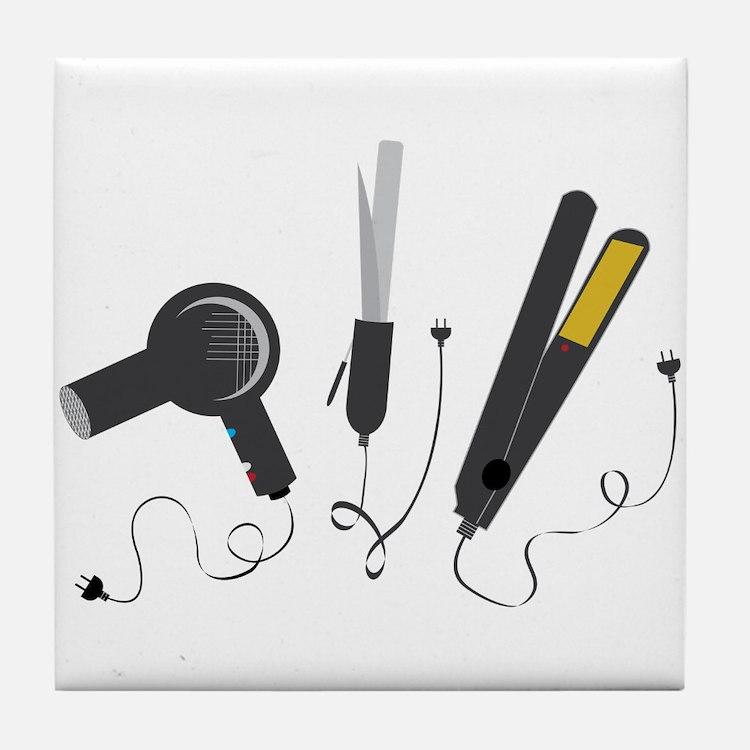 Hair Stylist Tools Tile Coaster