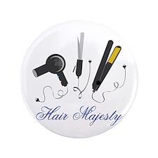 "Hair Majesty 3.5"" Button"