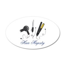 Hair Majesty Wall Decal