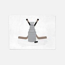 Hockey 5'x7'Area Rug