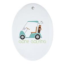 Gone Golfing Ornament (Oval)