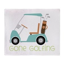 Gone Golfing Throw Blanket