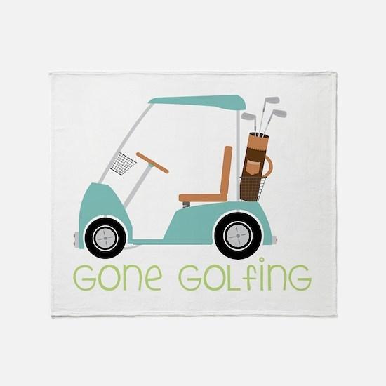 Gone Golfing Throw Blanket