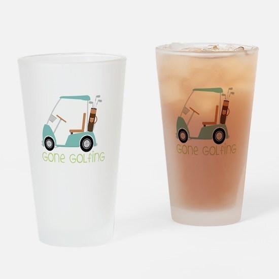 Gone Golfing Drinking Glass