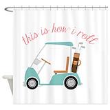 Golf cart Shower Curtains