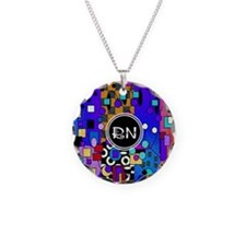 Registered Nurse Abstract Necklace