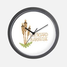 Backyard Barbeque Wall Clock