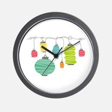 Party Lanterns Wall Clock