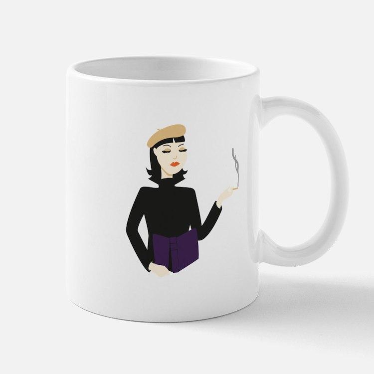 Lady Beatnik Mugs