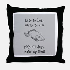 Fish All Day!! Throw Pillow