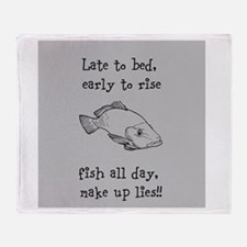 Fish All Day!! Throw Blanket