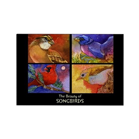 Beautiful Songbirds Rectangle Magnet (10 pack)