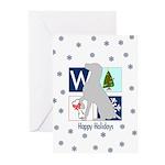 Weimaraner Happy Holidays Cards