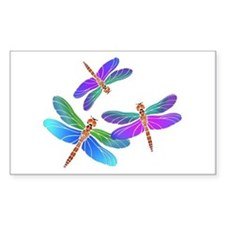 Dive Bombing Iridescent Dragonflies Decal