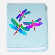 Funny Dragonfly baby blanket