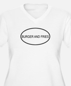 BURGER AND FRIES (oval) T-Shirt