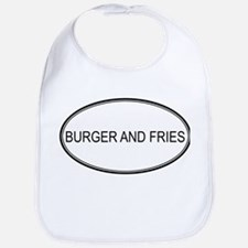 BURGER AND FRIES (oval) Bib