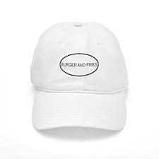BURGER AND FRIES (oval) Baseball Cap