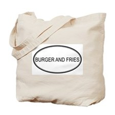 BURGER AND FRIES (oval) Tote Bag