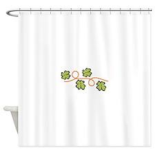4 Leaf Clover Border Shower Curtain