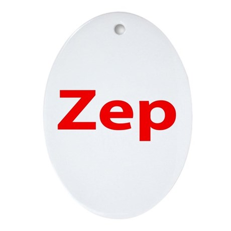 """""""Zep"""" Oval Ornament"""