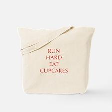run-hard-eat-cupcakes-OPT-RED Tote Bag