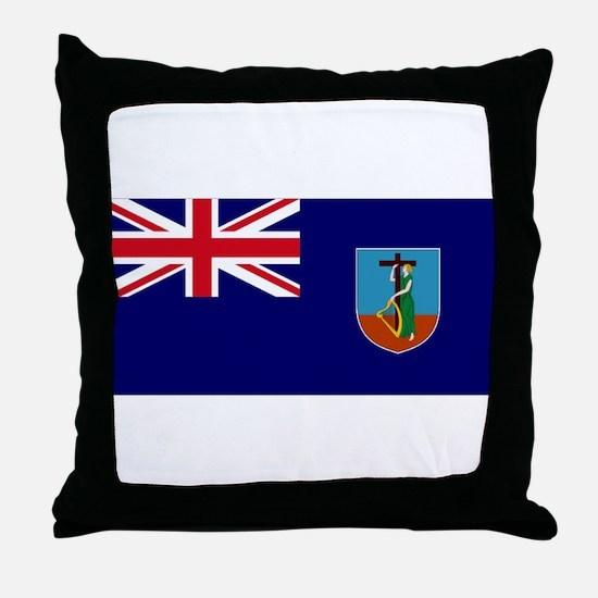Flag Montserrat Throw Pillow