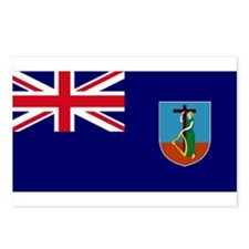 Flag Montserrat Postcards (Package of 8)