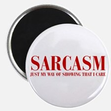SARCASM-JUST-MY-WAY-BOD-RED Magnets