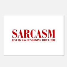 SARCASM-JUST-MY-WAY-BOD-RED Postcards (Package of