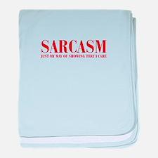 SARCASM-JUST-MY-WAY-BOD-RED baby blanket