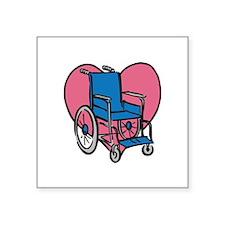 Heart Wheelchair Sticker