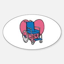 Heart Wheelchair Decal