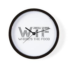 WHERES-THE-FOOD-CAP-GRAY Wall Clock