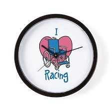 I Love Racing Wall Clock