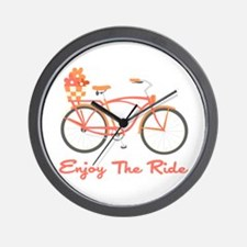 Enjoy The Ride Wall Clock