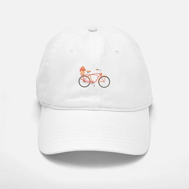 Pink Cruiser Bike Baseball Baseball Baseball Cap