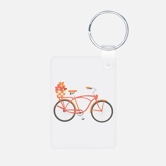 Pink Cruiser Bike Keychains