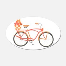 Pink Cruiser Bike Wall Decal